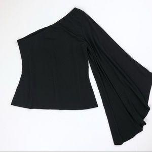 Nasty Gal Tops - NWT Nasty Gal Black One Bell Sleeve Flowy Top